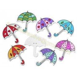 Nasturi copii umbrela 3.5cm - mix *5buc*