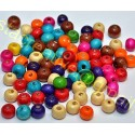 Margele din Lemn 8x6mm - Multicolore *set100buc*