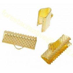 Terminatii bijuterii aurii, 16x7mm - set 10b