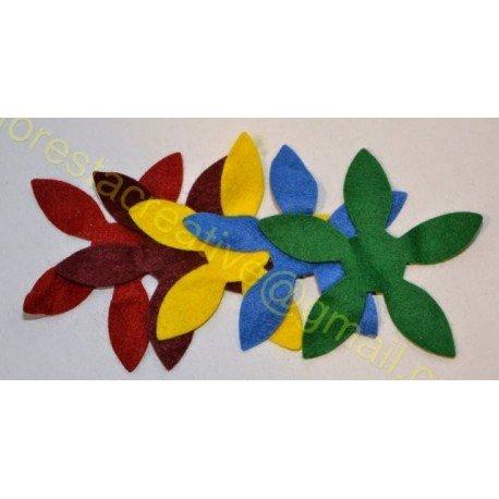 Decupaj Fetru Floare 10cm *set 4 bucati*