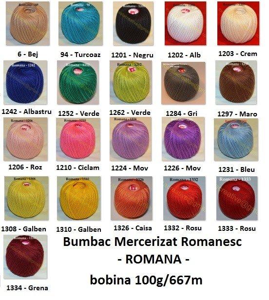 Bumbac Mercerizar Romanesc Romana