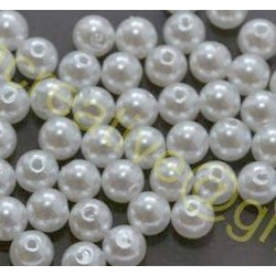 Margele Acril Imitatie Perla Ivory - 8mm *set 20buc*