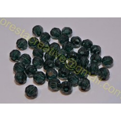 Margele Acril Fatetate verde, 10mm *set 10 buc*