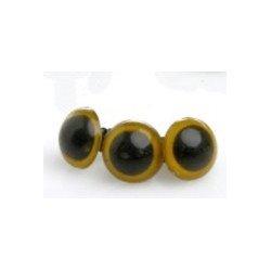 Ochi jucarii, galben, cu iris - 10mm *5 perechi*