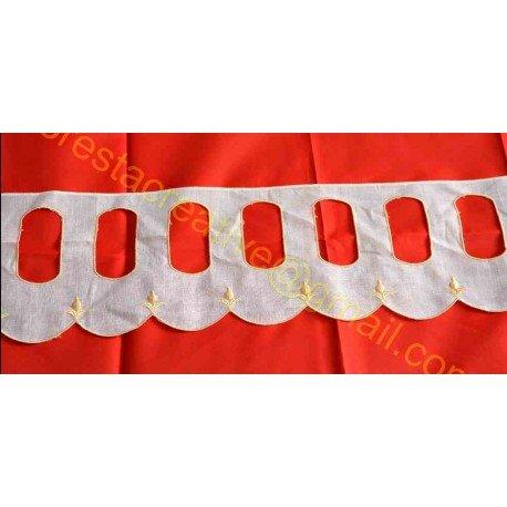 Banda Textila Crem 15.5cm - Decupaje Oval