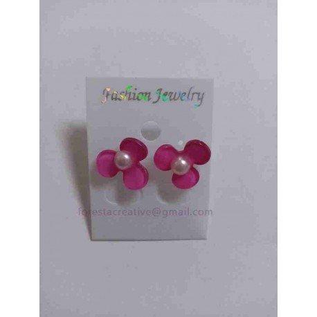 Cercei Floare cu Perla 15mm