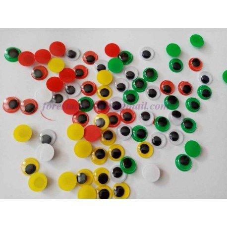 Ochisori Mobili Color 12mm - pentru jucarii *20 bucati*