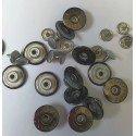 Capse Argintii 18mm pentru Blugi