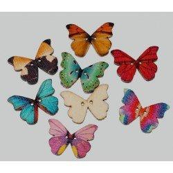 Nasturi Fluture Lemn 25x20mm Mix Culori - set 5b