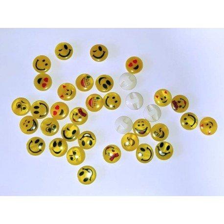 Nasturi Emoticon din plastic, 13mm - set 10 mixt