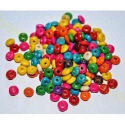 Margele din Lemn, abac, 8x4mm - Multicolore *50 buc*