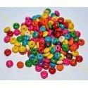 Margele din Lemn, abac, 8x4mm - Mix Culori *100 buc*