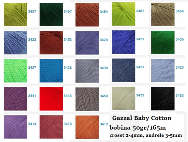 Gazzal Baby Cotton - Bumbac si acril