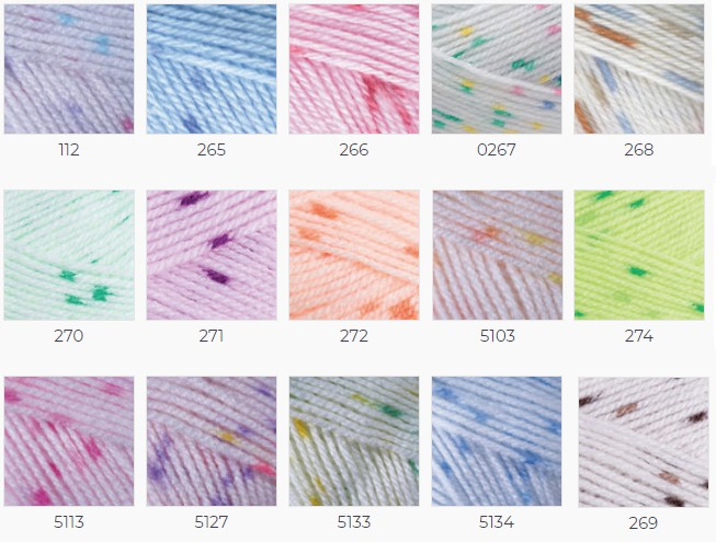 YarnArt Baby Color acril pepit copii